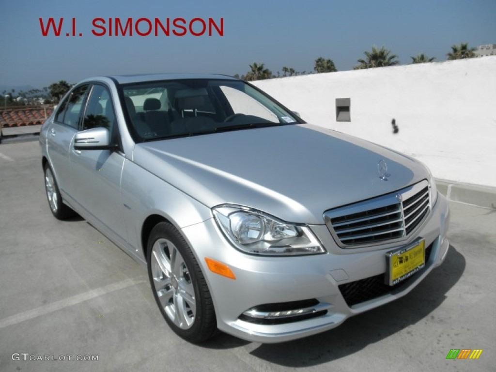 2012 iridium silver metallic mercedes benz c 250 luxury for Mercedes benz silver