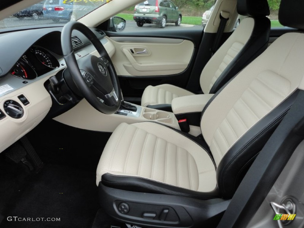 Superb Cornsilk Beige Two Tone Interior 2010 Volkswagen CC Sport Photo #54242711