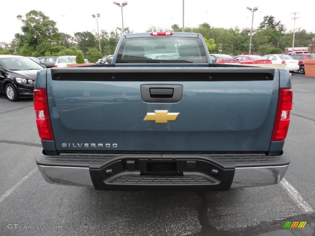 2012 Silverado 1500 Work Truck Regular Cab 4x4 - Blue Granite Metallic / Dark Titanium photo #7