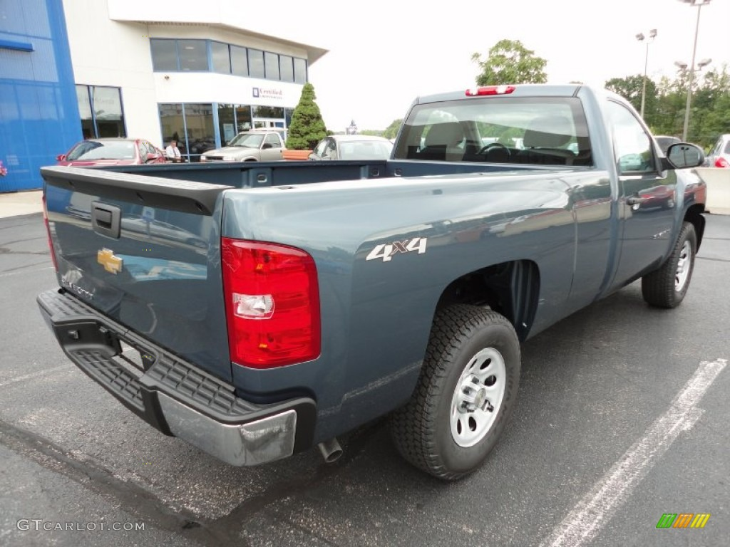 2012 Silverado 1500 Work Truck Regular Cab 4x4 - Blue Granite Metallic / Dark Titanium photo #8