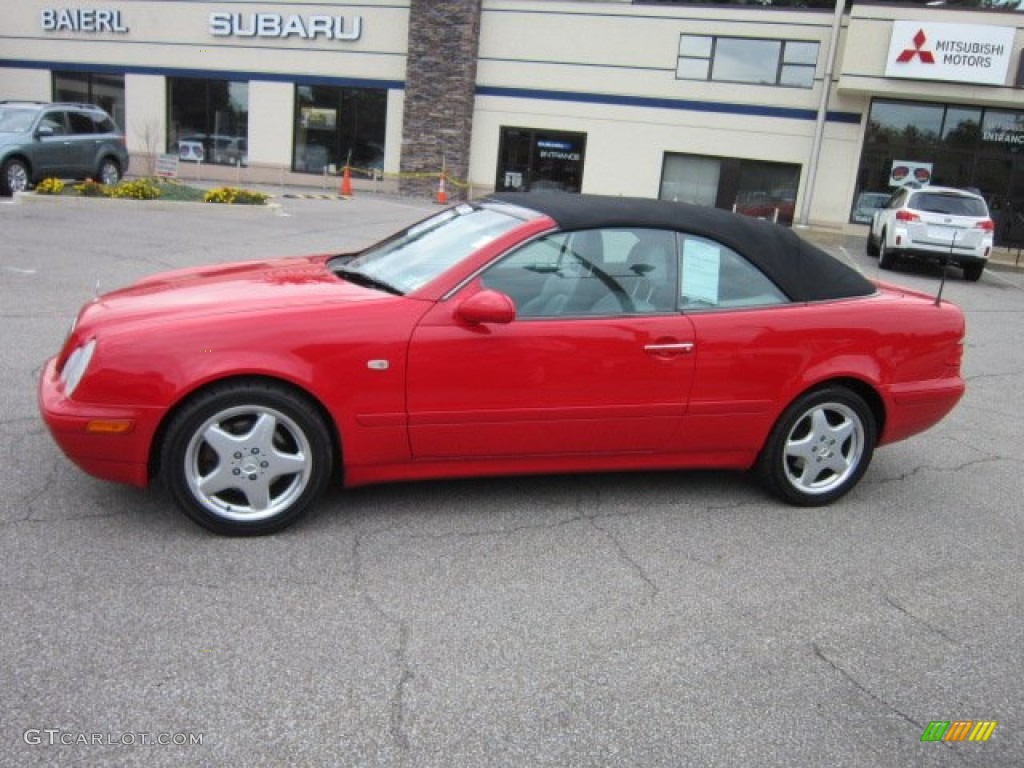 1999 Magma Red Mercedes Benz Clk 320 Convertible 54241951