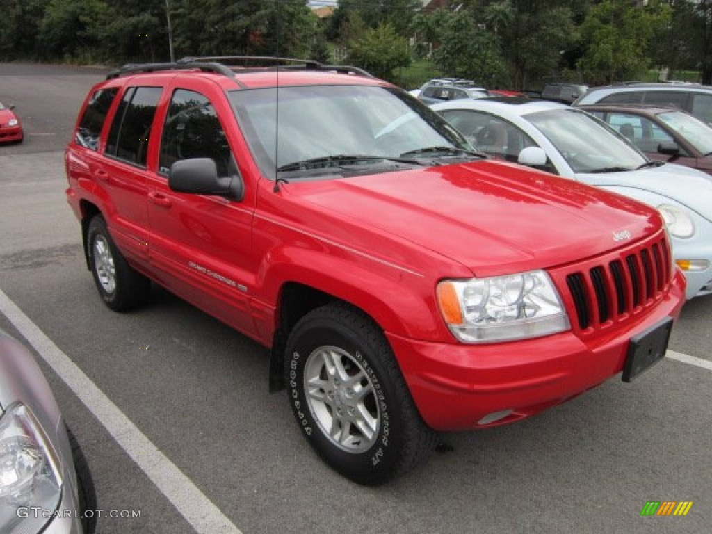1999 flame red jeep grand cherokee limited 4x4 #54252116