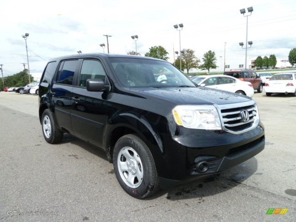 Crystal Black Pearl 2012 Honda Pilot Lx 4wd Exterior Photo
