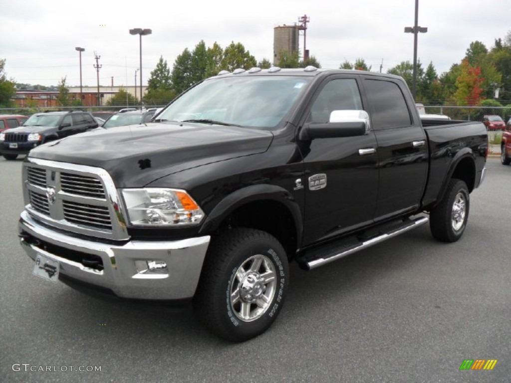 black 2012 dodge ram 2500 hd laramie longhorn crew cab 4x4. Black Bedroom Furniture Sets. Home Design Ideas