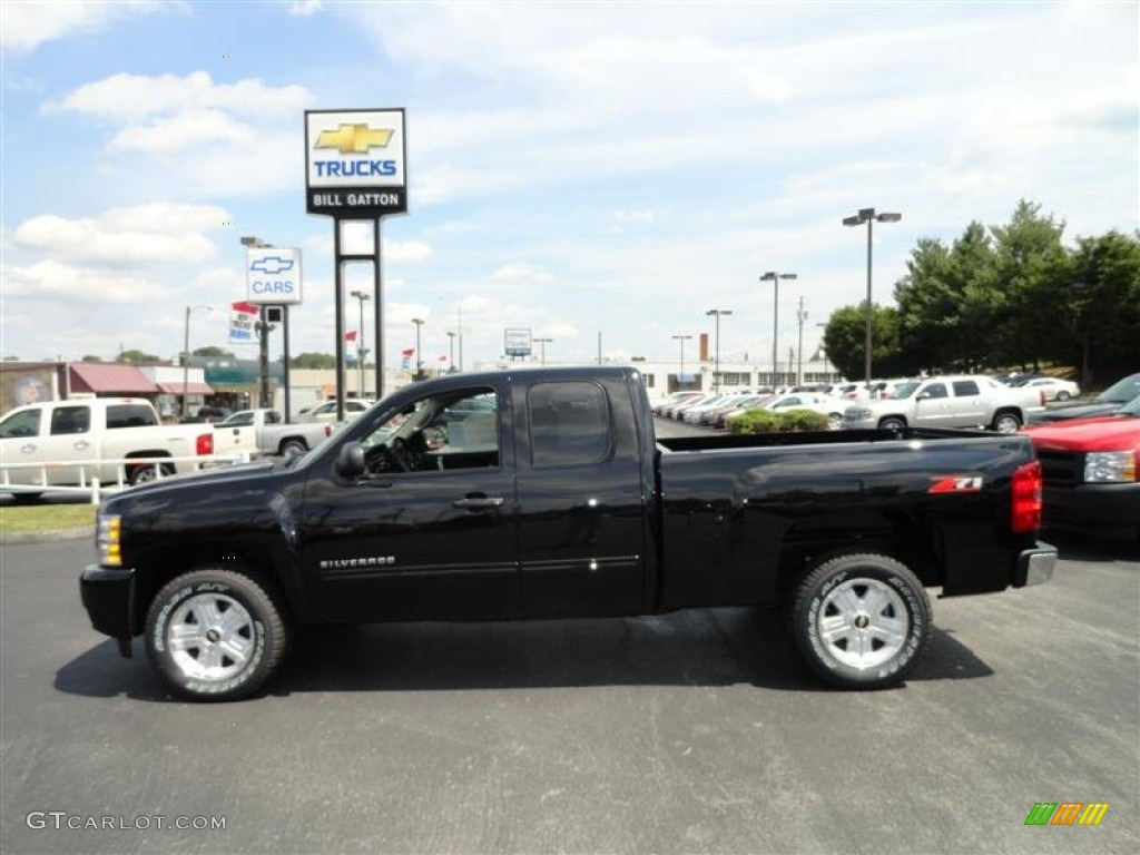 2011 Silverado 1500 LT Extended Cab - Black / Ebony photo #1