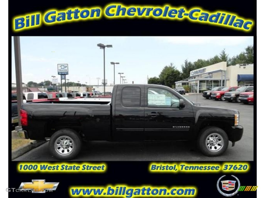 2011 Silverado 1500 LS Extended Cab - Black / Dark Titanium photo #1