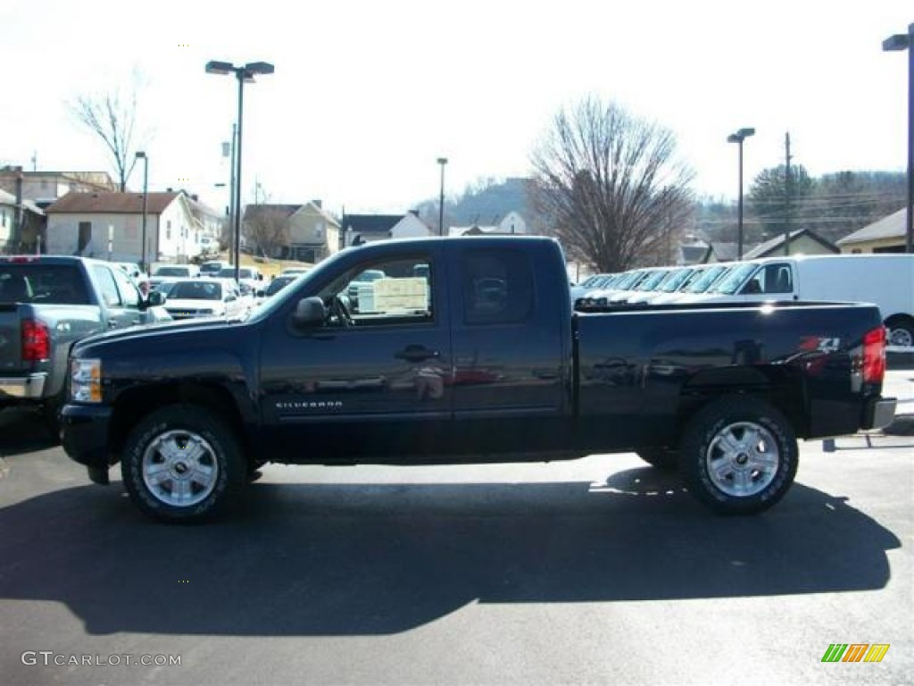 2011 Silverado 1500 LT Extended Cab 4x4 - Imperial Blue Metallic / Ebony photo #1