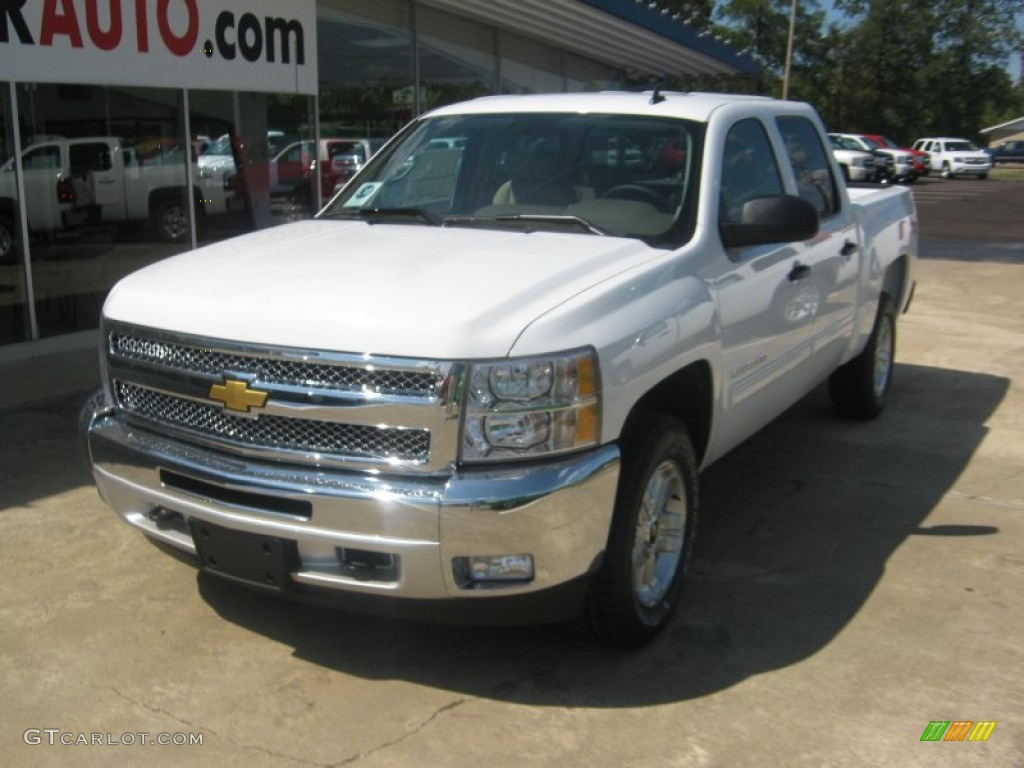 2012 Silverado 1500 LT Crew Cab 4x4 - White Diamond Tricoat / Light Cashmere/Dark Cashmere photo #1