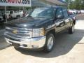 2012 Black Chevrolet Silverado 1500 LT Crew Cab 4x4  photo #1