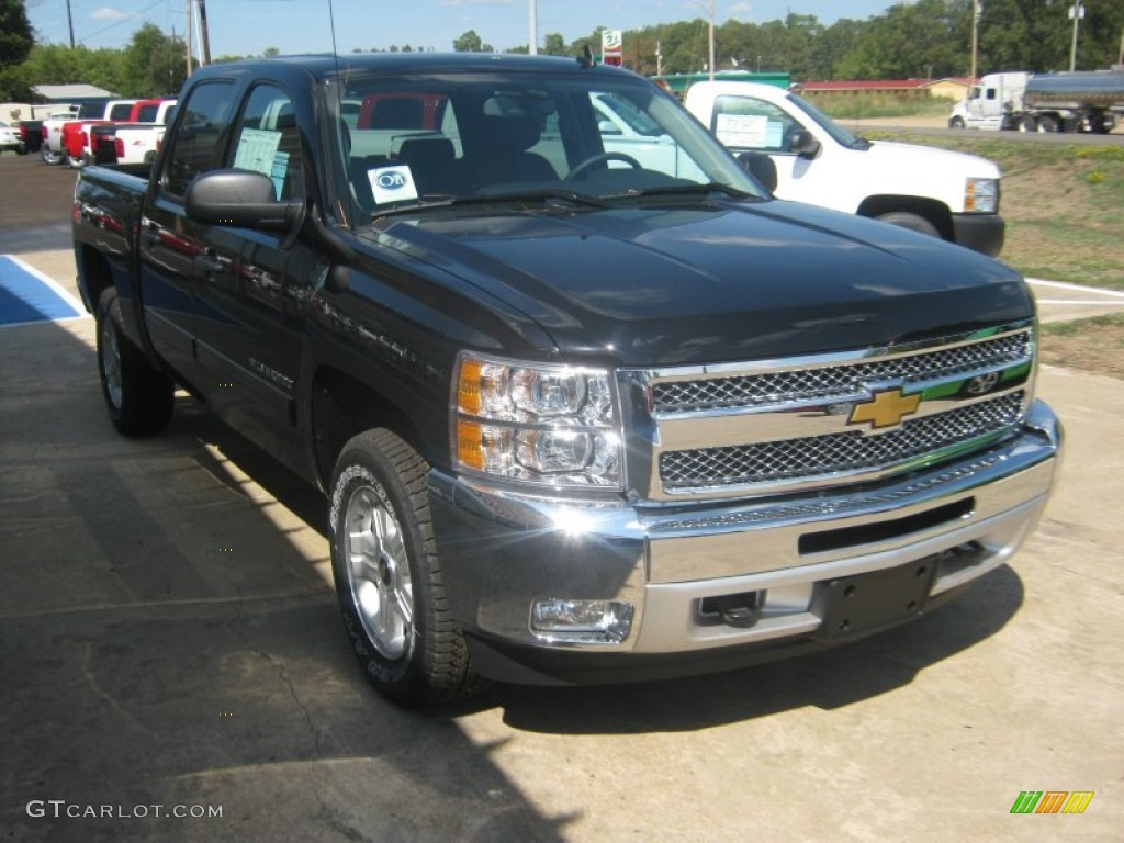 2012 Silverado 1500 LT Crew Cab 4x4 - Black / Ebony photo #6