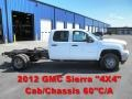 Summit White 2012 GMC Sierra 3500HD Crew Cab Dually 4x4 Chassis