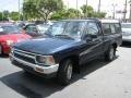 Dark Blue Pearl 1992 Toyota Pickup Deluxe Regular Cab