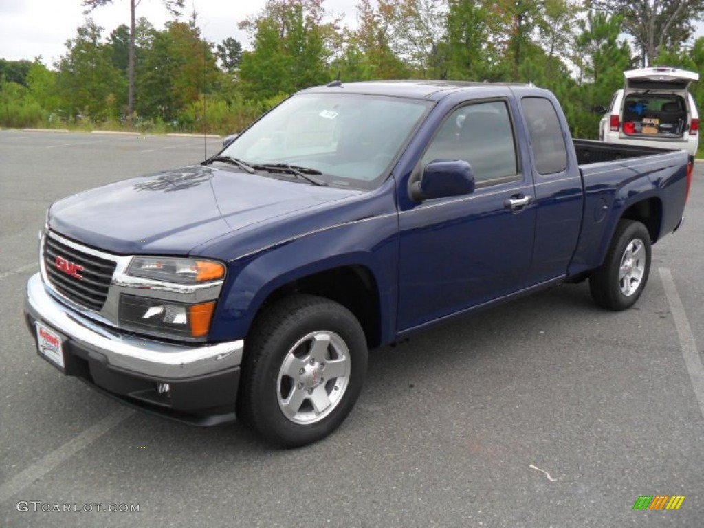 navy blue 2012 gmc canyon sle extended cab exterior photo 54339442. Black Bedroom Furniture Sets. Home Design Ideas