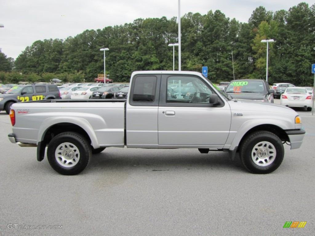 Silver metallic 2003 mazda b series truck b3000 cab plus dual sport exterior photo