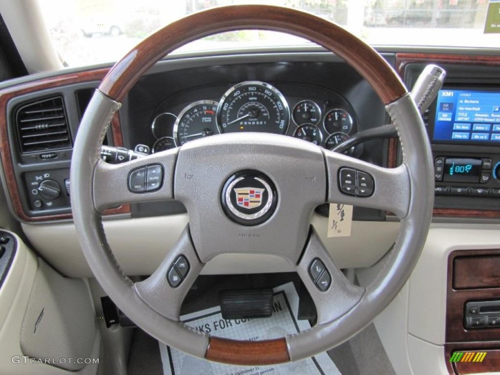 2006 Cadillac Escalade Ext Awd Shale Steering Wheel Photo 54360283