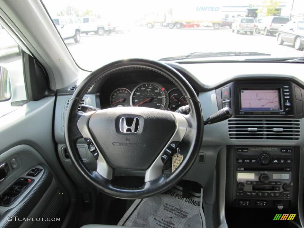 2004 Honda Pilot EX L 4WD Gray Dashboard Photo #54361759