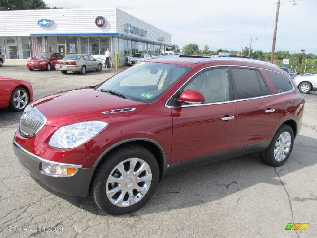 2010 Enclave CXL AWD - Red Jewel Tintcoat / Cashmere/Cocoa photo #1