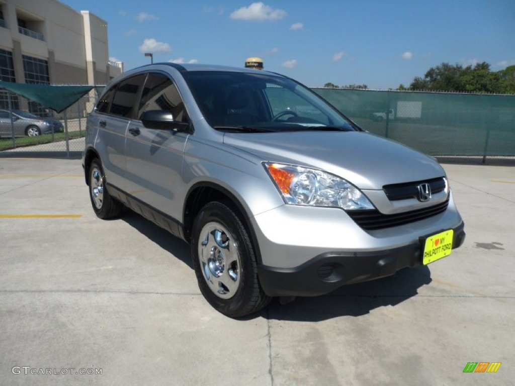 2009 CR-V LX - Alabaster Silver Metallic / Gray photo #1