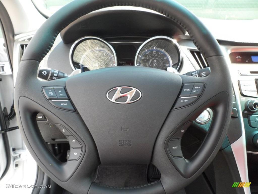 2012 hyundai sonata se black steering wheel photo 54374047. Black Bedroom Furniture Sets. Home Design Ideas