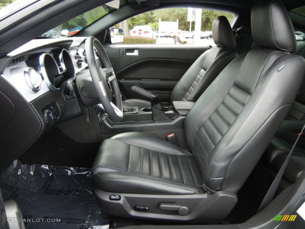 Dark Charcoal Interior 2008 Ford Mustang Gt Premium Coupe Photo 54381997