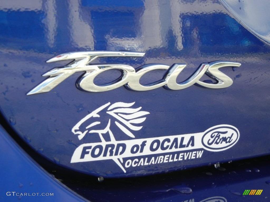2012 Focus S Sedan - Sonic Blue Metallic / Charcoal Black photo #4