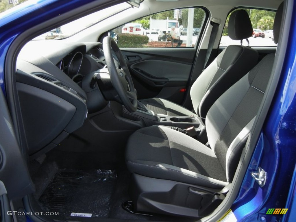 2012 Focus S Sedan - Sonic Blue Metallic / Charcoal Black photo #5