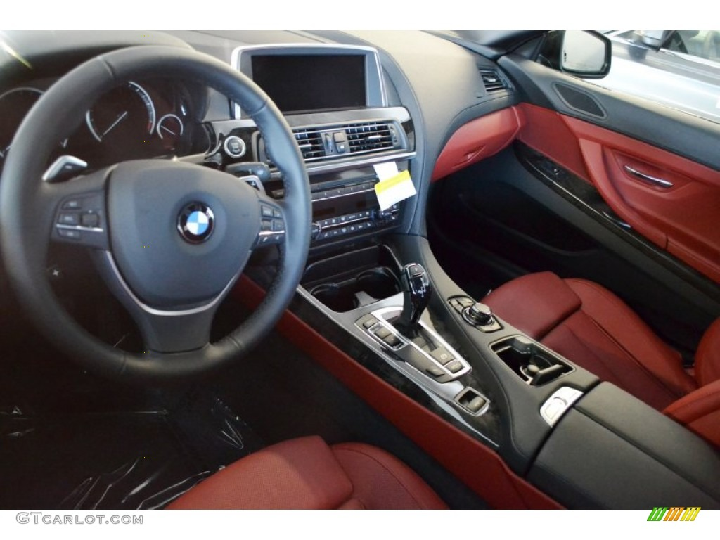 Vermillion Red Nappa Leather Interior 2012 Bmw 6 Series 650i Convertible Photo 54389929