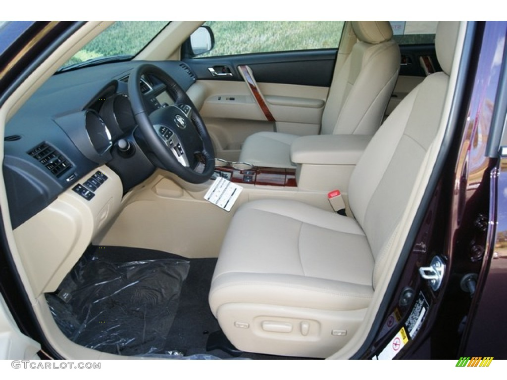 Sand Beige Interior 2012 Toyota Highlander Limited 4wd Photo 54401866