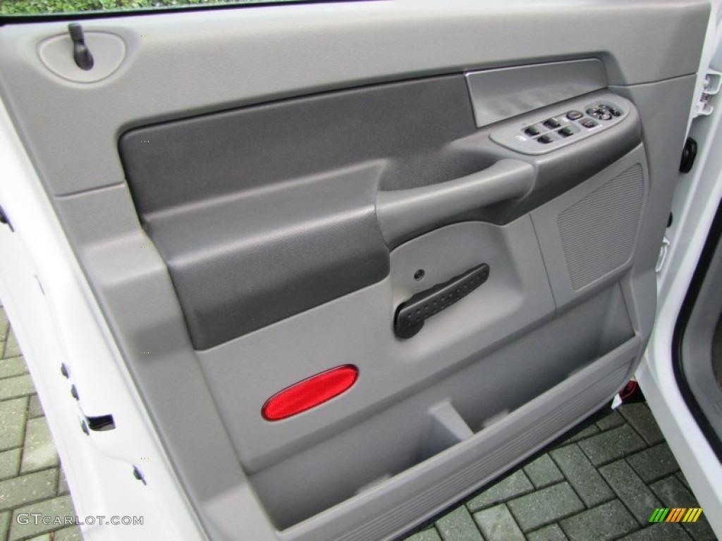 2007 Dodge Ram 3500 SLT Quad Cab Dually Medium Slate Gray Door Panel Photo #54407813