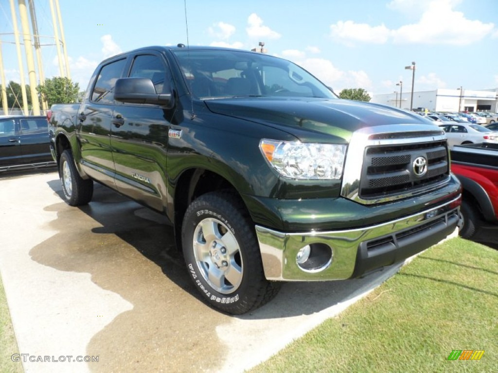 2012 spruce green mica toyota tundra sr5 trd crewmax 4x4 54418576 car color. Black Bedroom Furniture Sets. Home Design Ideas