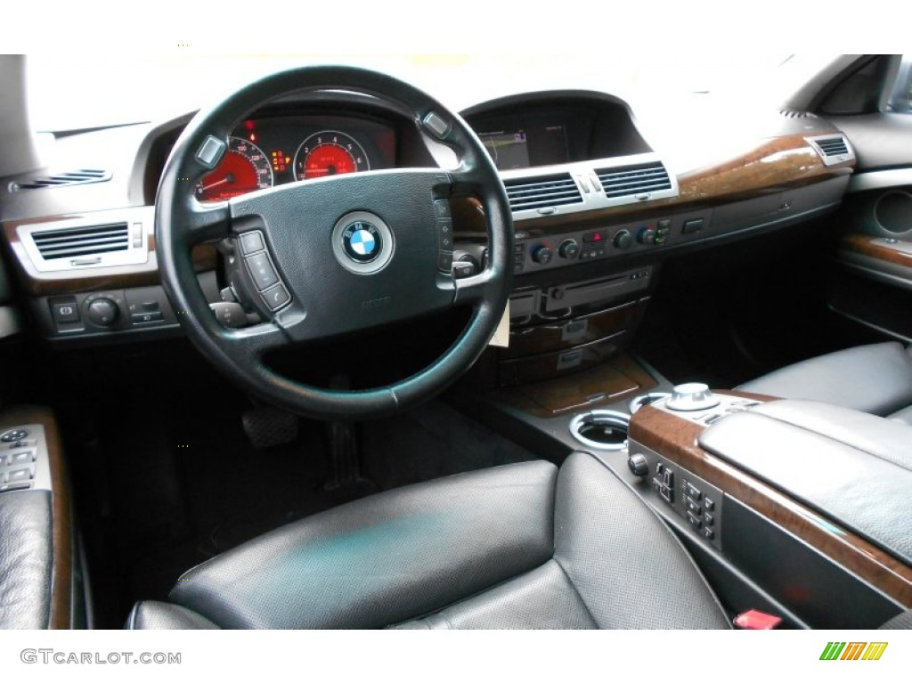 2004 Bmw 7 Series 745i Sedan Black Black Dashboard Photo
