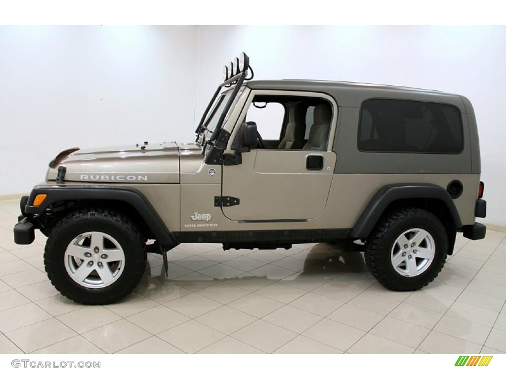 light khaki metallic 2006 jeep wrangler unlimited rubicon 4x4