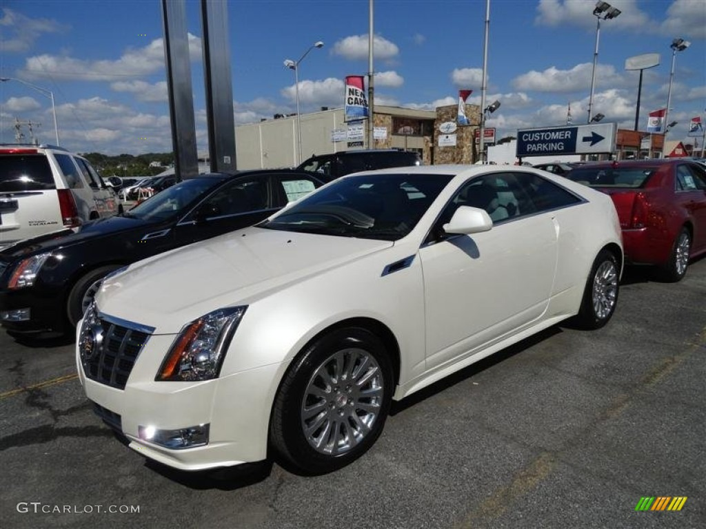 White Diamond Tricoat 2012 Cadillac Cts Coupe Exterior