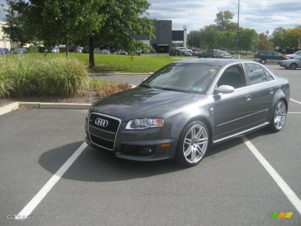 2008 Daytona Grey Pearl Effect Audi Rs4 4 2 Quattro Sedan