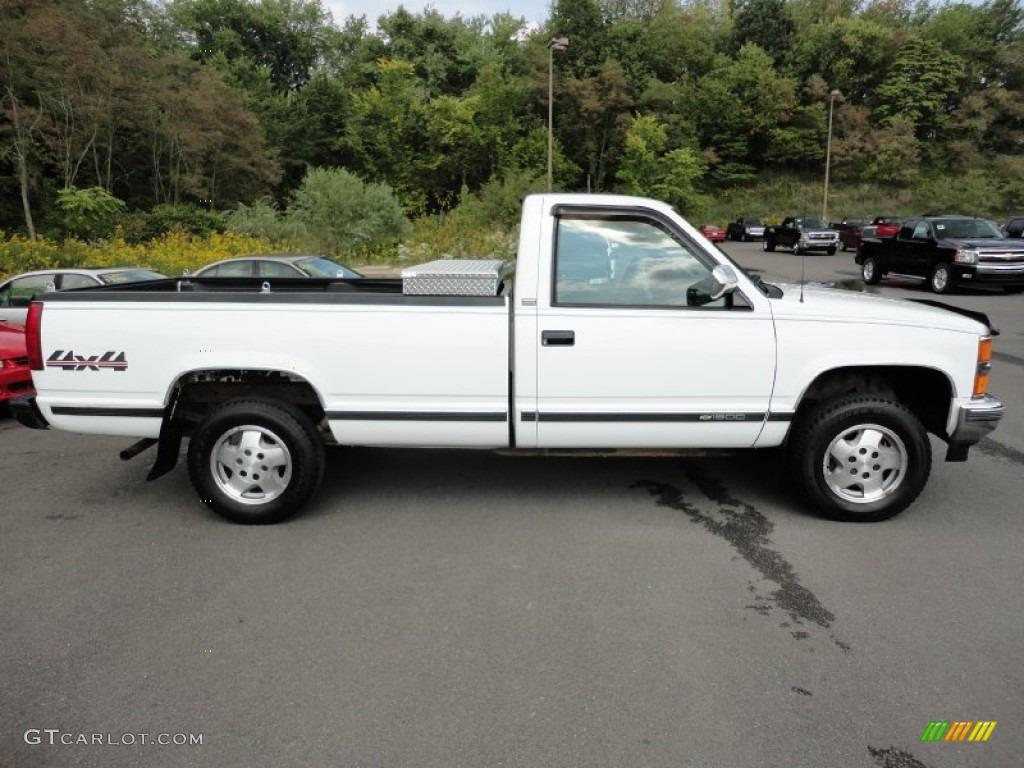 White 1994 chevrolet c k k1500 regular cab 4x4 exterior photo 54442461