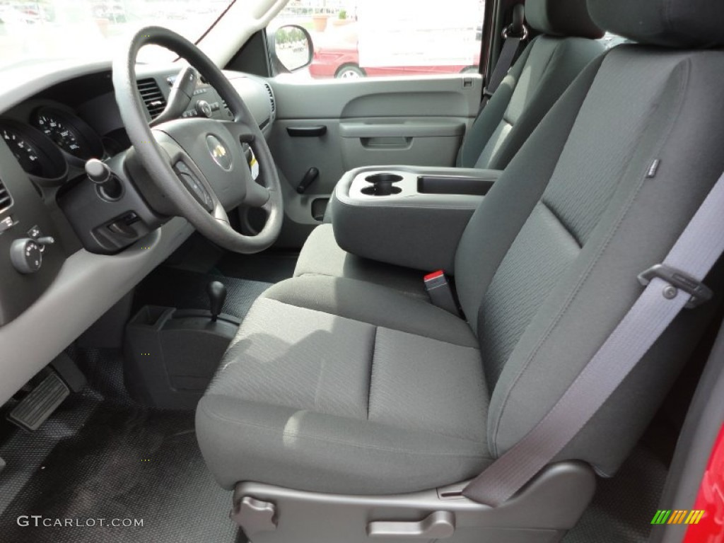 Dark Titanium Interior 2012 Chevrolet Silverado 1500 Work Truck Regular Cab 4x4 Photo 54443850