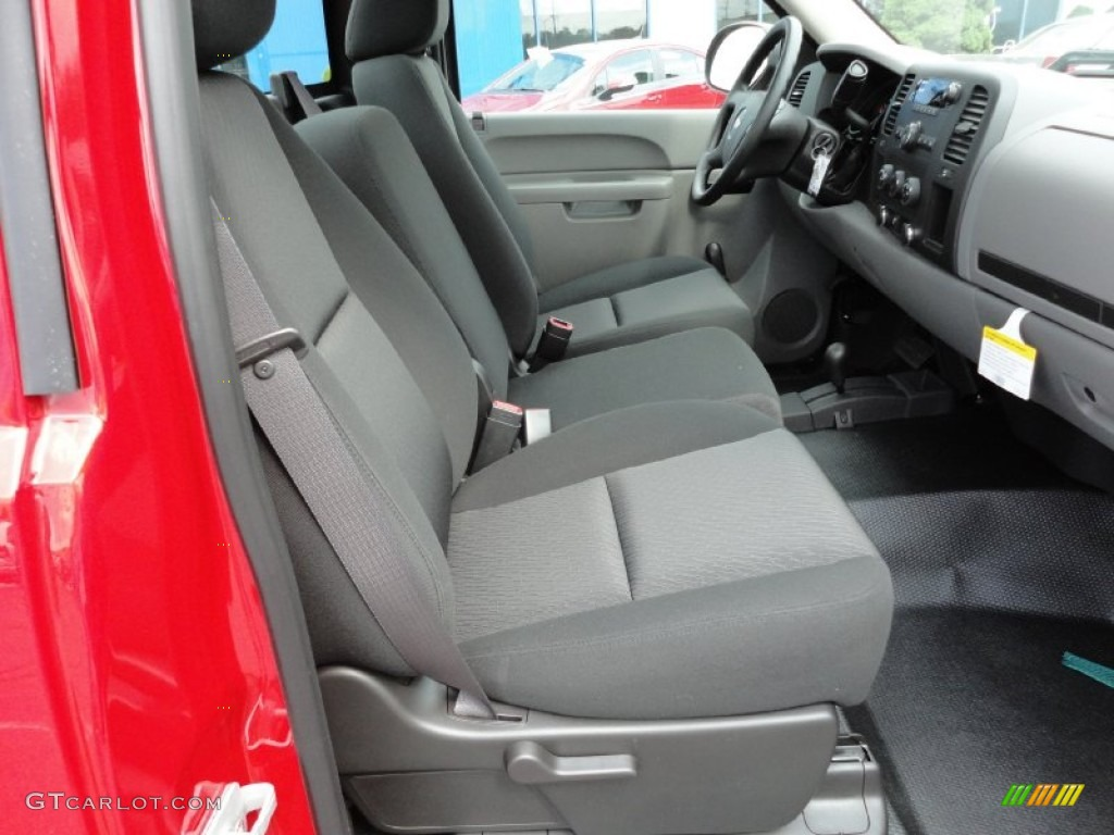 Dark Titanium Interior 2012 Chevrolet Silverado 1500 Work Truck Regular Cab 4x4 Photo 54443887