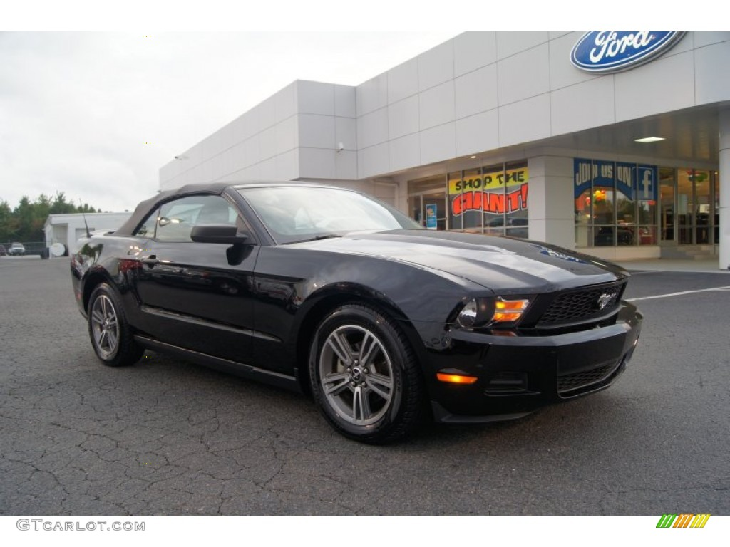 2010 ford mustang v6 premium convertible black color charcoal. Black Bedroom Furniture Sets. Home Design Ideas