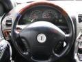 2003 Lincoln LS Black Interior Steering Wheel Photo