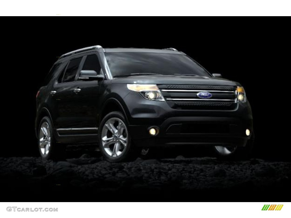 2012 explorer xlt 4wd black charcoal black photo 2 - Ford Explorer 2012 Black
