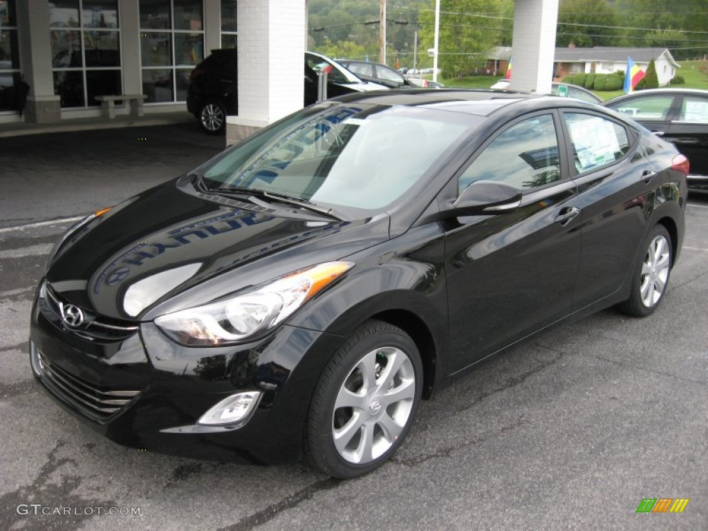 Midnight black 2012 hyundai elantra limited exterior photo - 2012 hyundai elantra exterior colors ...