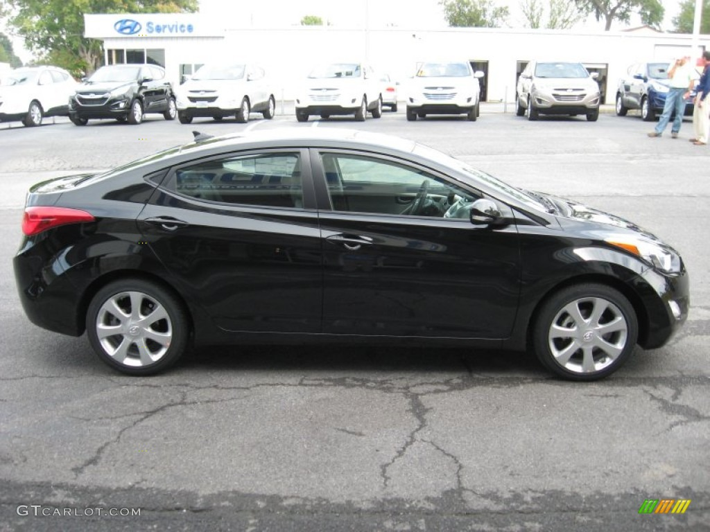 Midnight Black 2012 Hyundai Elantra Limited Exterior Photo