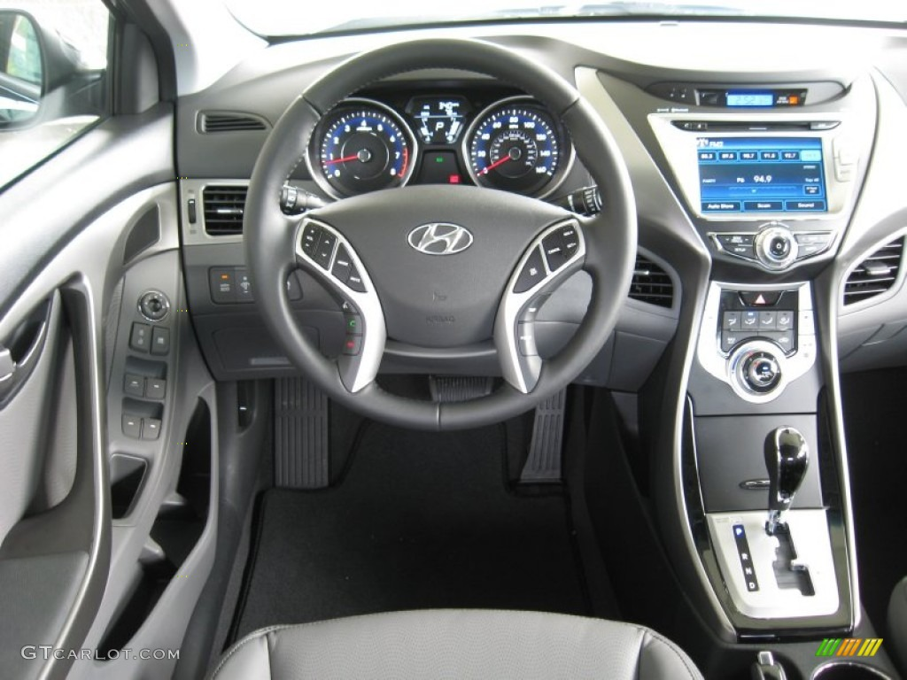2012 Hyundai Elantra Limited Gray Dashboard Photo