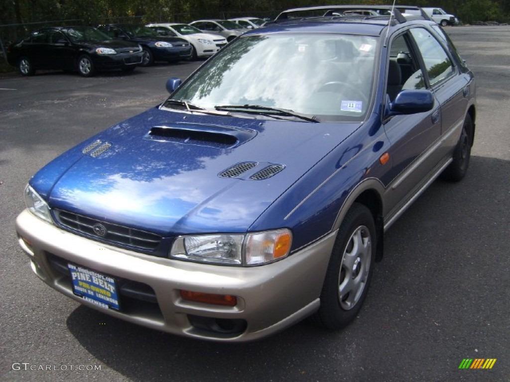 2001 blue ridge pearl subaru impreza outback sport wagon #54418281