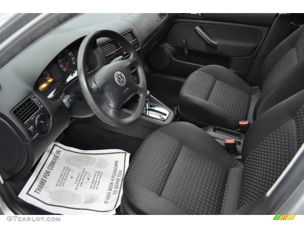 Black Interior 2001 Volkswagen Jetta Gl Sedan Photo 54485345