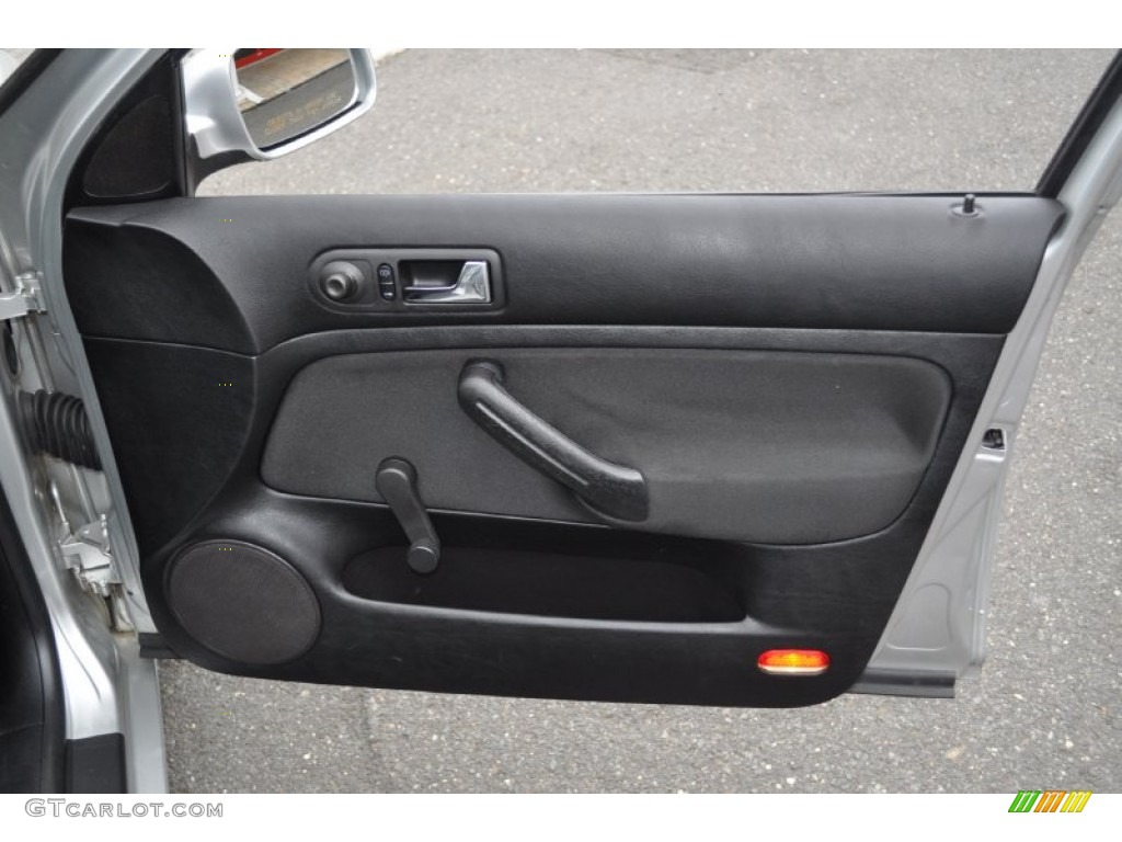 2001 Volkswagen Jetta Gl Sedan Black Door Panel Photo 54485474
