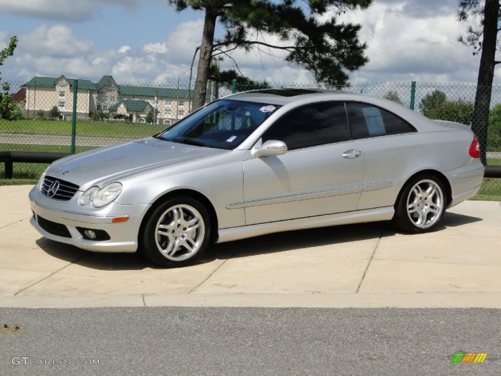 brilliant silver metallic 2004 mercedes benz clk 55 amg. Black Bedroom Furniture Sets. Home Design Ideas