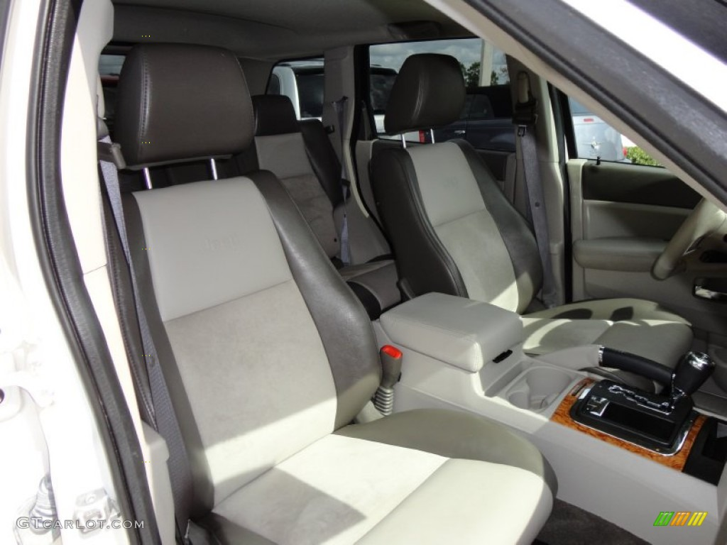 Medium Slate Gray Dark Slate Gray Mckinley Leather Interior 2009 Jeep Grand Cherokee Limited 4x4