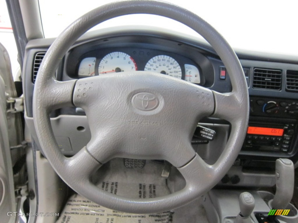 2002 Toyota Tacoma Xtracab 4x4 Charcoal Steering Wheel