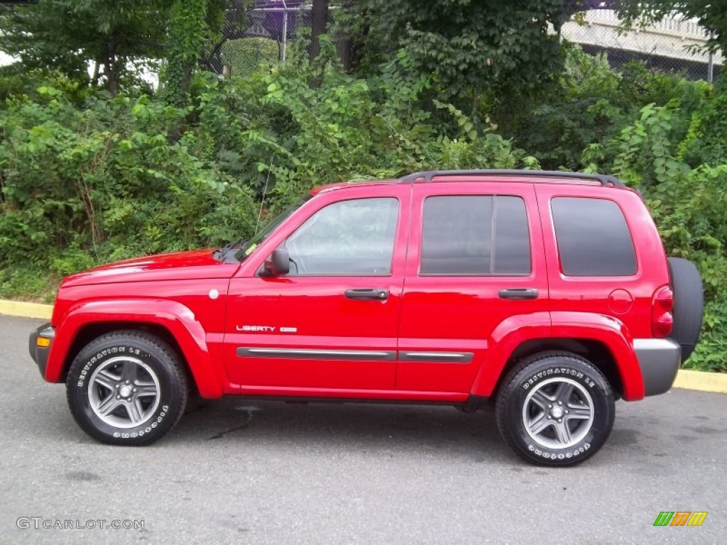 2004 flame red jeep liberty sport 4x4 columbia edition 54418682 photo 2 car. Black Bedroom Furniture Sets. Home Design Ideas